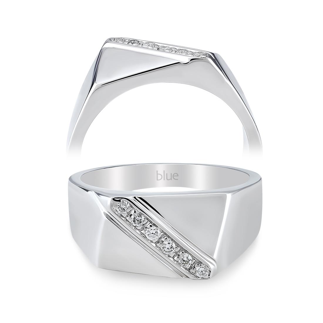 0,11 Karat Pırlantalı Erkek Yüzüğü