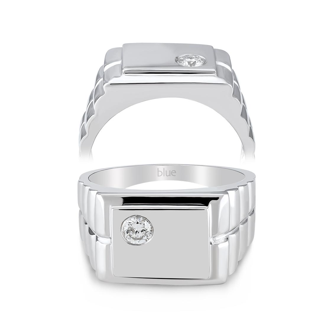 0,18 Karat Pırlantalı Erkek Yüzüğü
